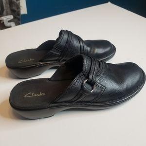 EUC Clarks |  Leather Mule Clog size 8